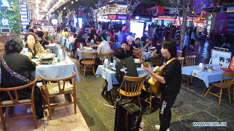 West Street in Yangshuo County, China's Guangxi