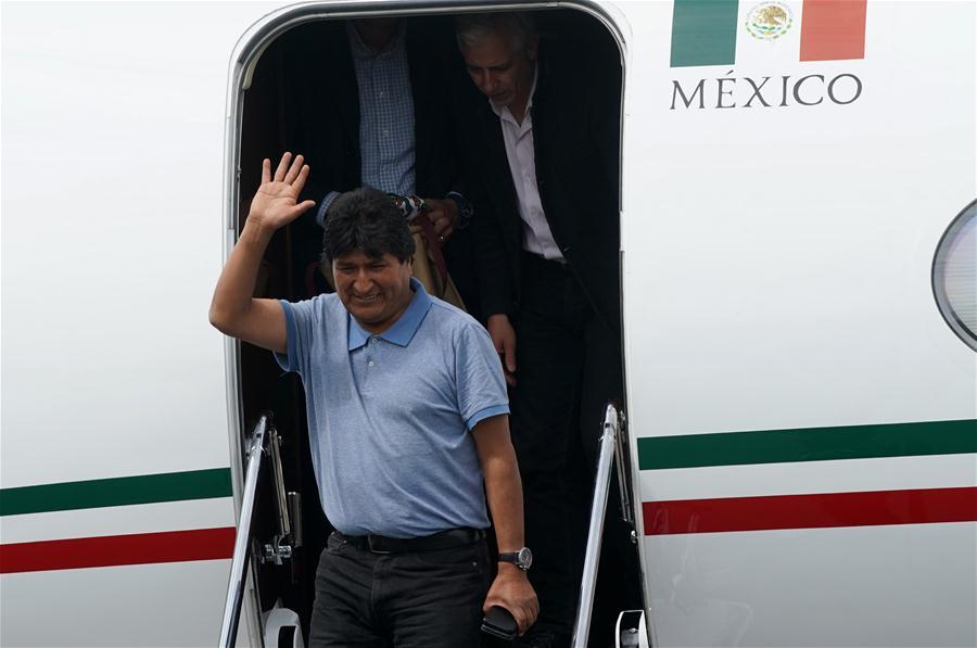 Bolivia's Evo Morales arrives in Mexico