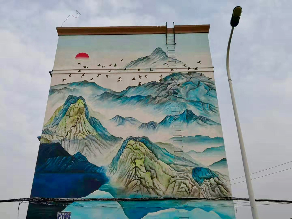 Artworks add color to buildings in Jilin