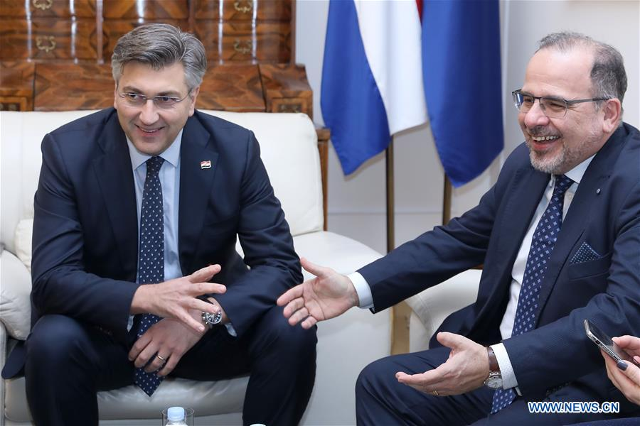 Croatian PM meets with president of European Economic and Social Committee in Zagreb