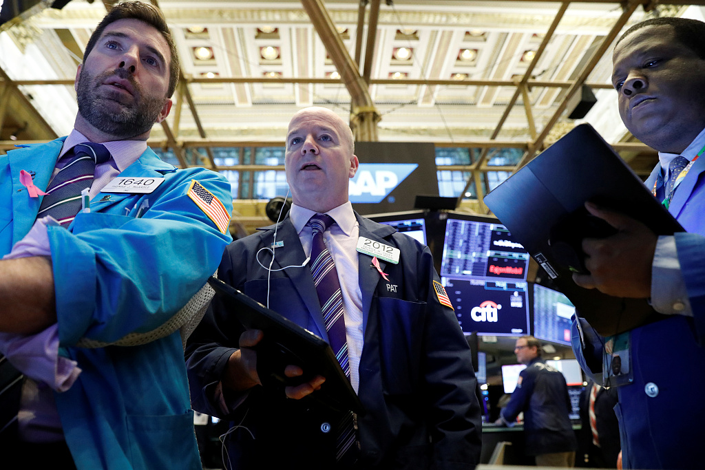 US stocks open lower amid trade observation, data
