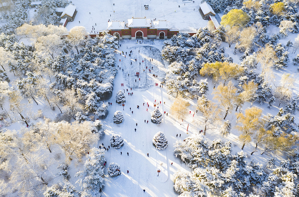 Shenyang embraces this winter's first snowfall