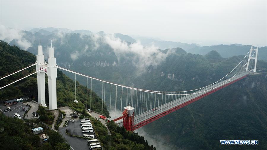 Aizhai suspension bridge in C China's Hunan