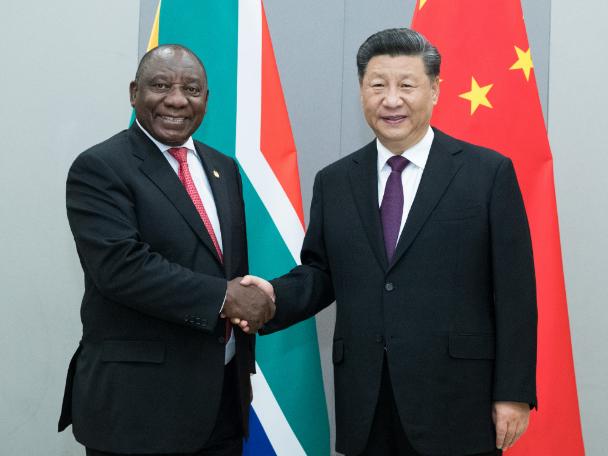Xi meets Ramaphosa to advance China-South Africa ties