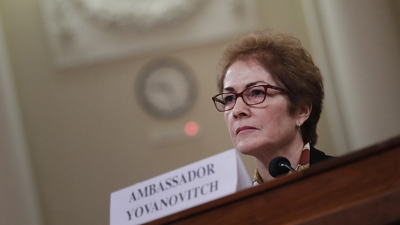 Yovanovitch 'intimidated' as Trump live-tweets impeachment hearing
