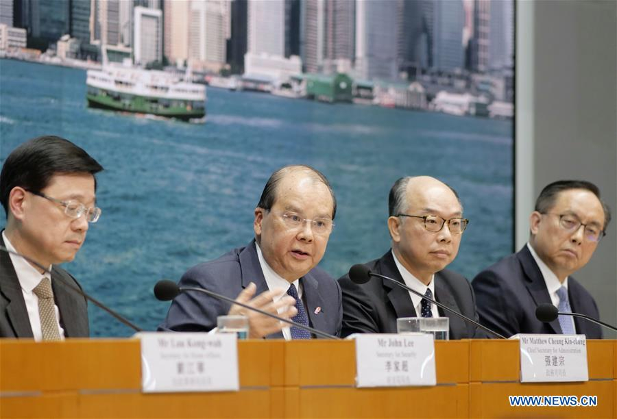 HKSAR govt official calls end to violence, a week ahead of elections