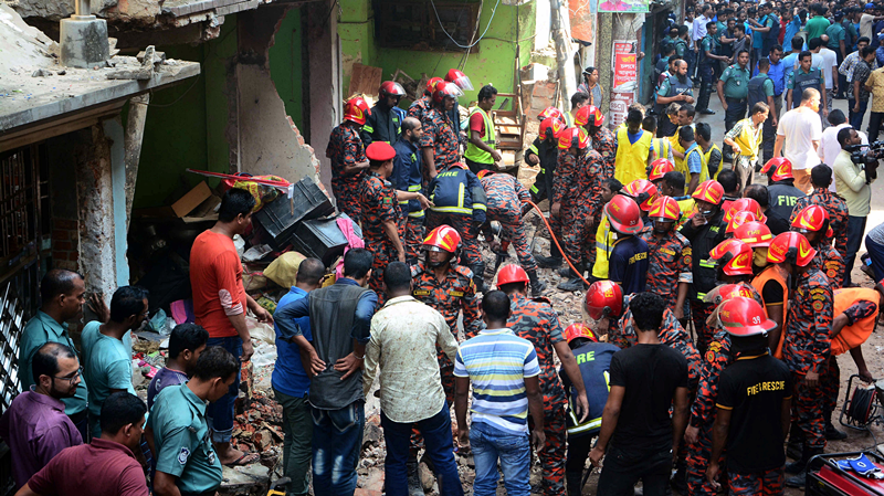7 dead, dozens injured after gas explosion causes building collapse in SE Bangladesh