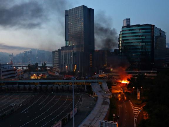 Hong Kong police deny raiding Polytechnic University in overnight standoff