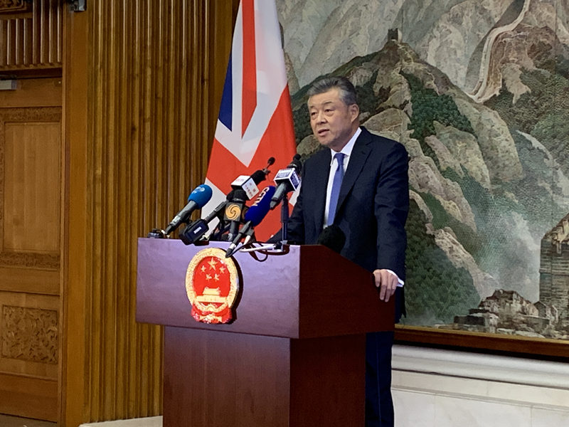 Murderous violence in Hong Kong 'must not be tolerated': China's ambassador to UK