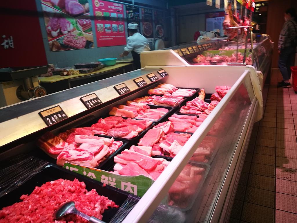 China's pork prices gradually reduce as supply improves