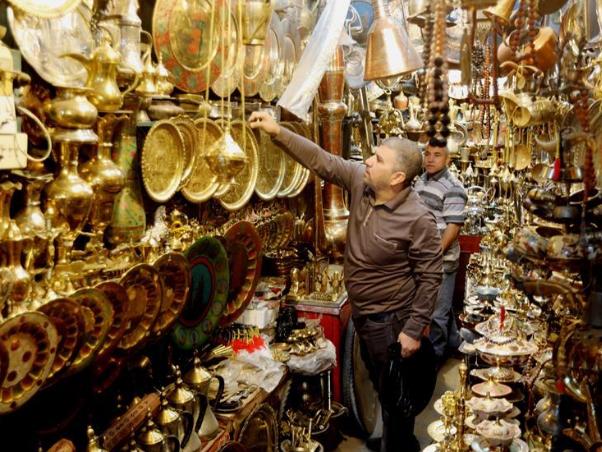 Safafeer copper market in Baghdad, Iraq