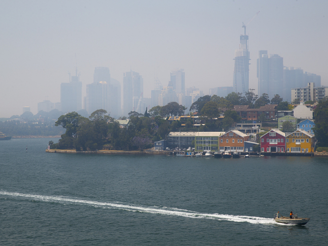 Sydney suffers another day of 'hazardous' air quality due to bushfires