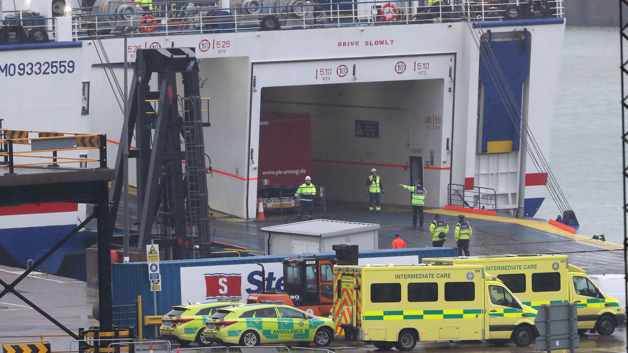 16 people found in truck's trailer on ferry bound for Ireland