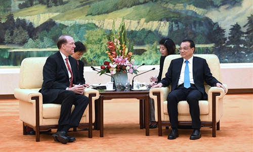 Chinese premier meets World Bank chief on deepening cooperation