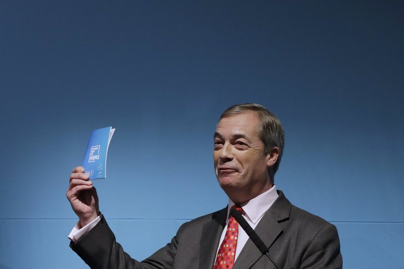Brexit Party not just about Brexit, Farage tells UK voters
