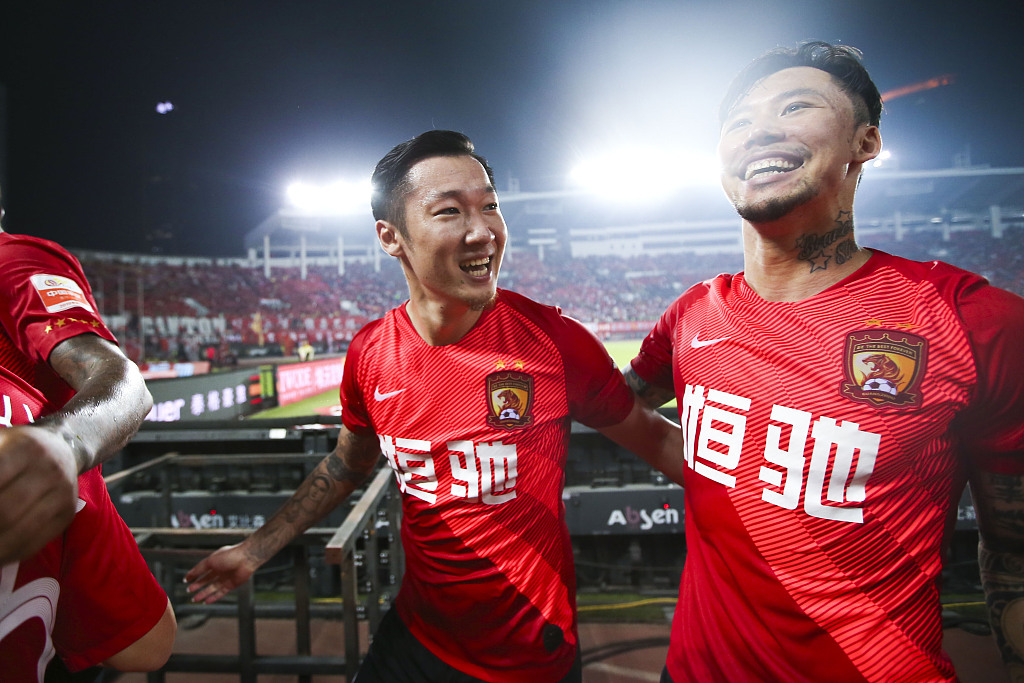 Guangzhou Evergrande close to league title after 2-0 victory over Shanghai SIPG