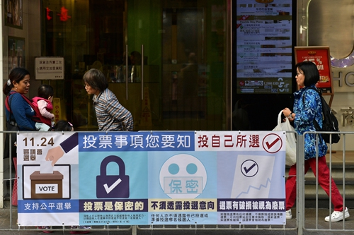 Hong Kong gears for district elections