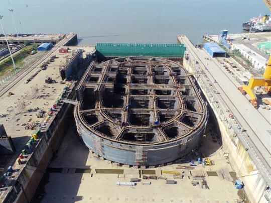 China starts building first 'three-in-one' bridge over Yangtze River