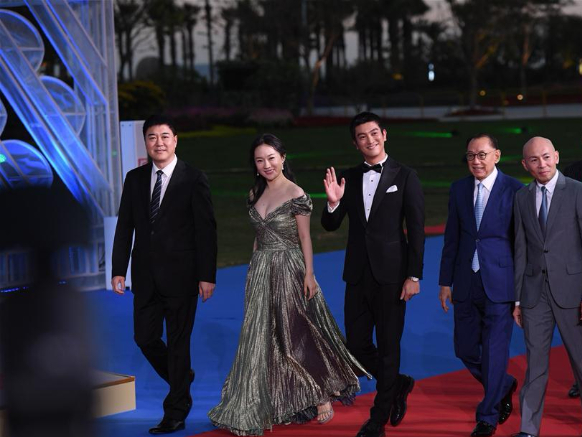Red carpet ceremony of 28th China Golden Rooster & Hundred Flowers Film Festival
