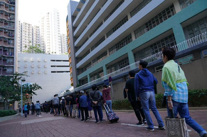 Over 2.94 million million voters cast their ballots in Hong Kong