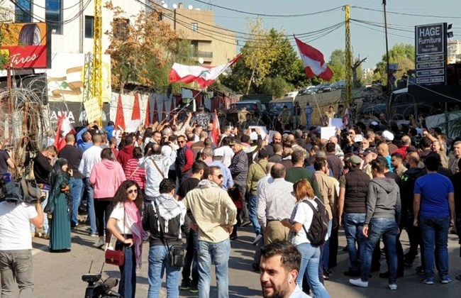 Hundreds of Lebanese protest against US intervention in Lebanon's affairs