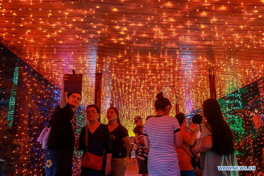 Christmas lights displayed at park in Quezon City, the Philippines