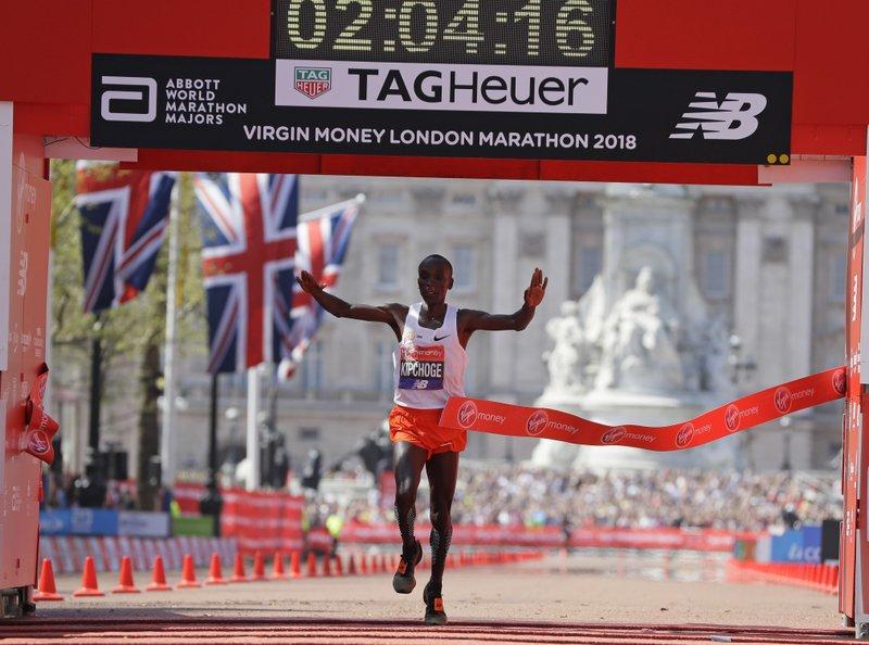 Kipchoge named world male athlete of year 2019