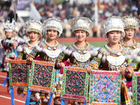 Lusheng and horse fighting festival celebrated in Guangxi