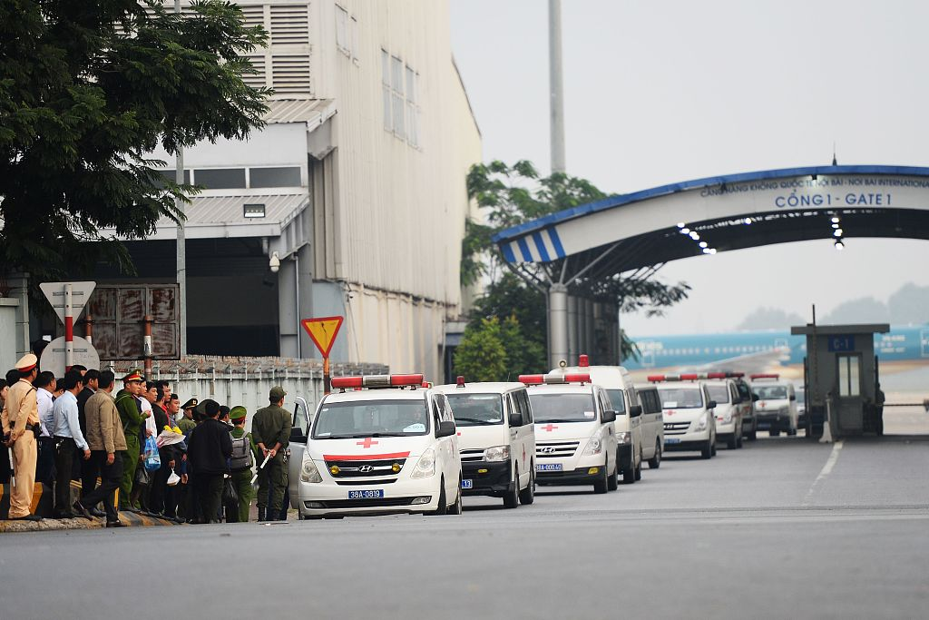First bodies of UK truck victims arrive in Vietnam for burial