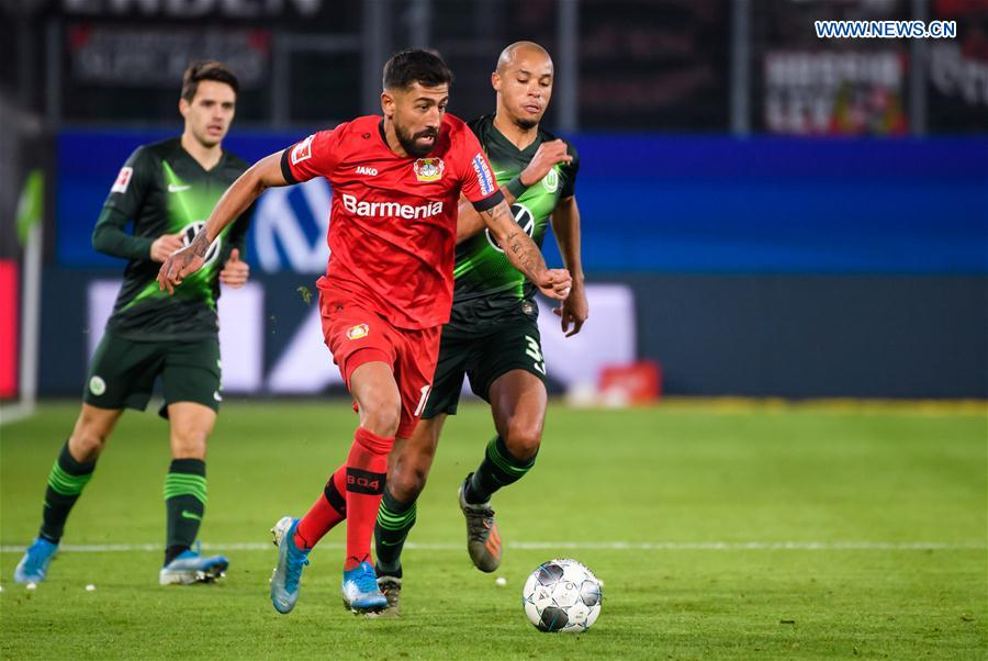 German Bundesliga match: Wolfsburg vs. Leverkusen