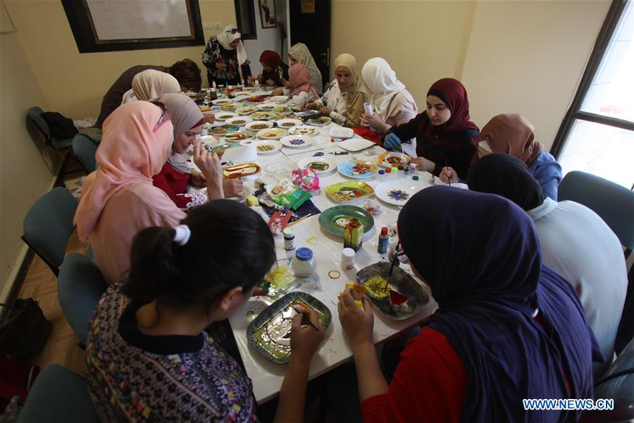Palestinian women participate in training workshop to increase income