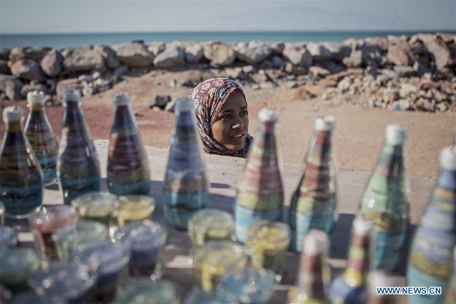 Scenery of Hormuz Island, southern Iran