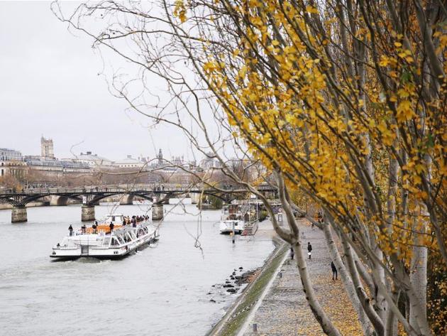 Autumn view of Paris, France