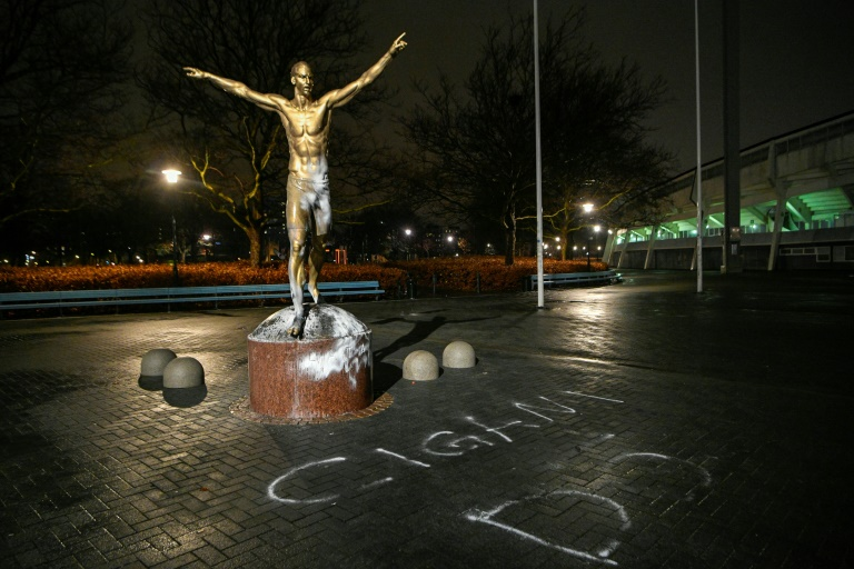 Ibrahimovic files 'hate crime' complaint after house and statue vandalised