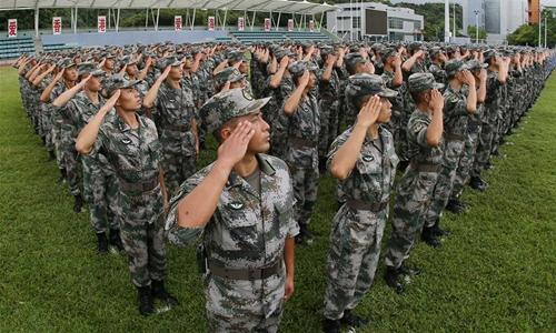 PLA garrison lauded for safeguarding Hong Kong