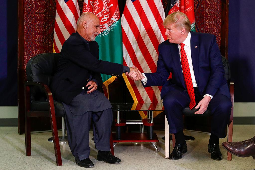 Trump says US-Taliban talks resumed amid Afghanistan visit