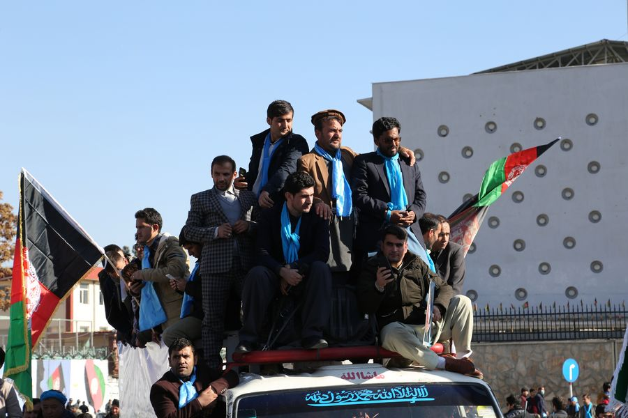 Afghans take to streets in election-related protest in Kabul