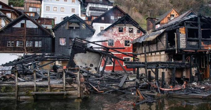 Fire damages buildings in Austria's UNESCO heritage site, one injured