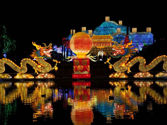 Traditional Chinese lantern festival held in Nice, France