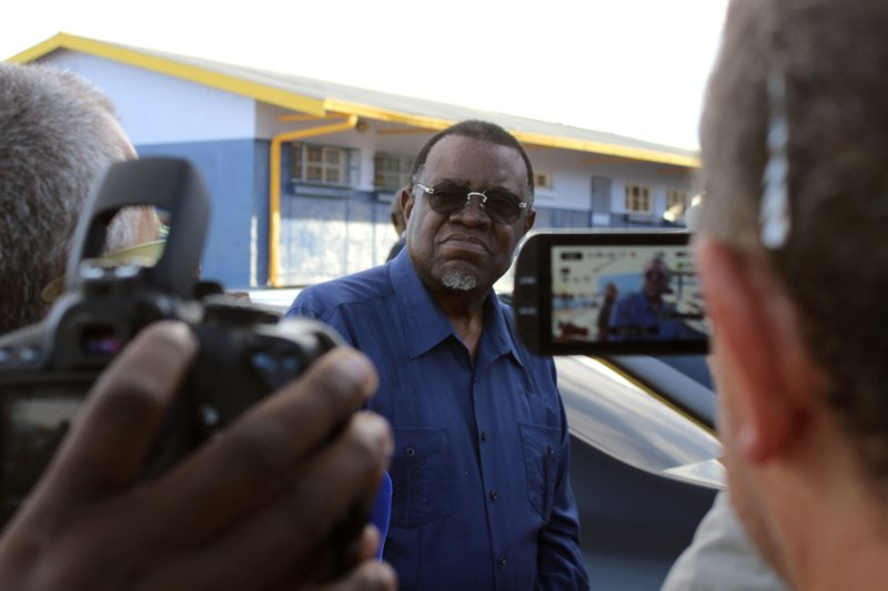 With most votes counted, Namibia's leader faces 2nd term