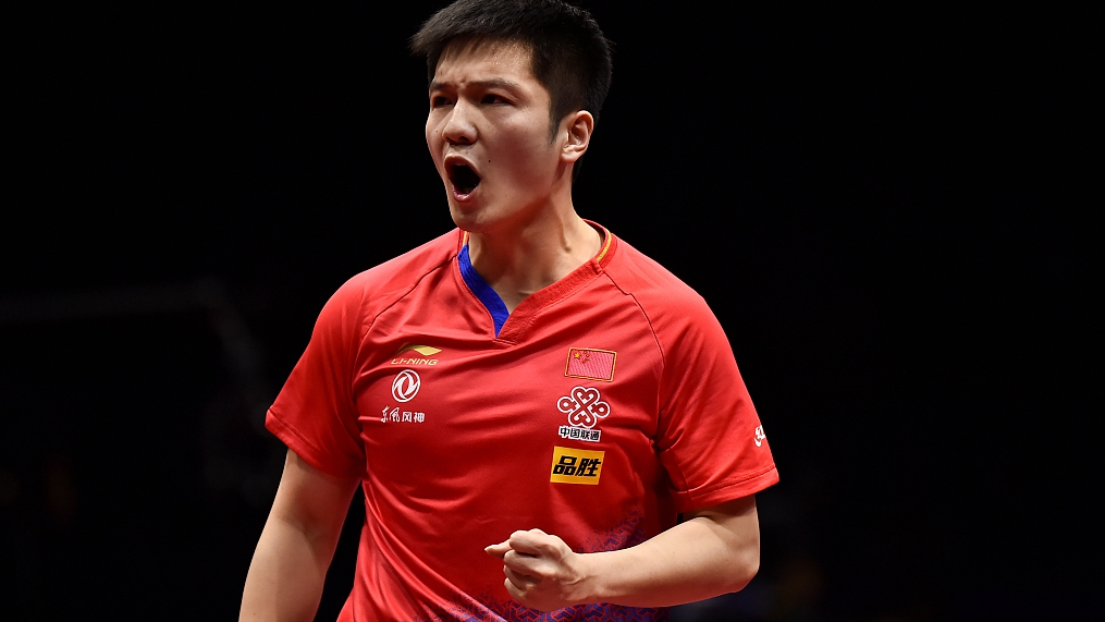 Fan Zhendong beats Tomokazu Harimoto to win the ITTF World Cup