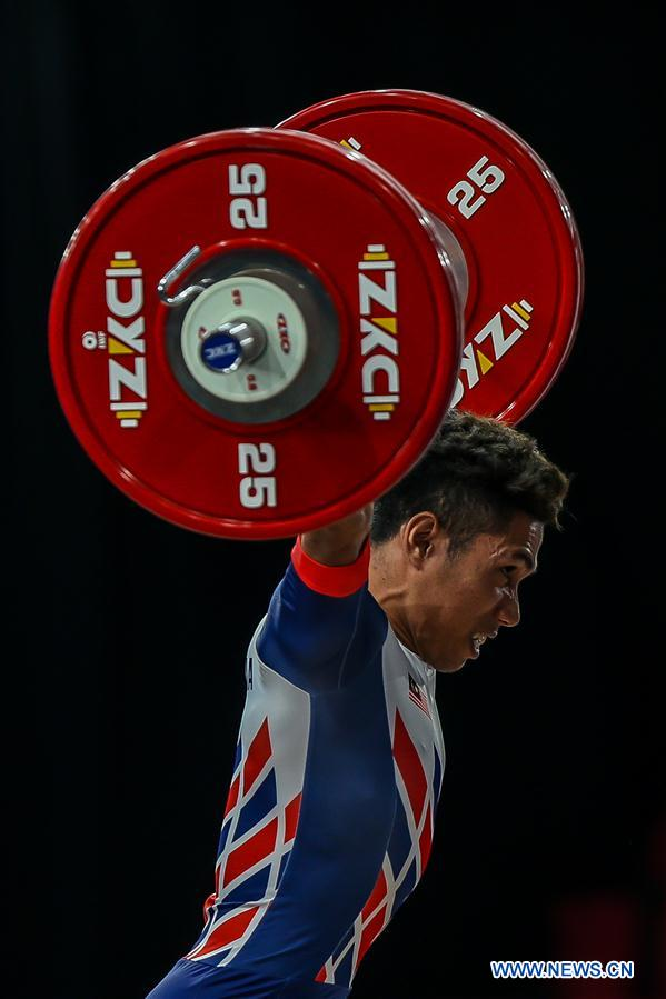 Men's weightlifting 61kg event held at Southeast Asian Games 2019