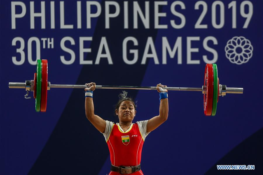 Women's weightlifting 49kg event held at Southeast Asian Games 2019