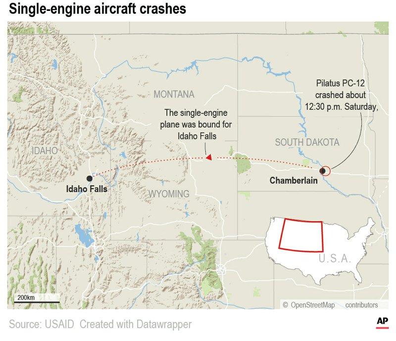 South Dakota airplane crash kills 9 in extended family