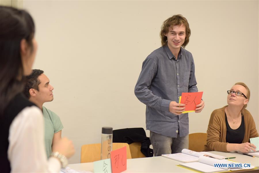 Austrian students learn Chinese at Confucius Institute of University of Vienna