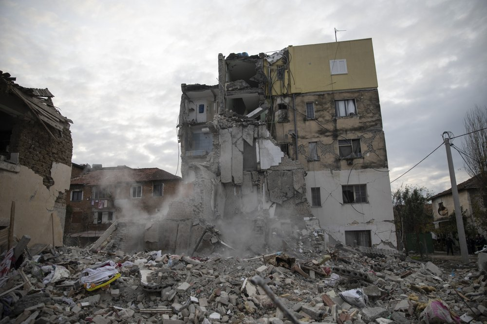 Albania quake breaks open homes