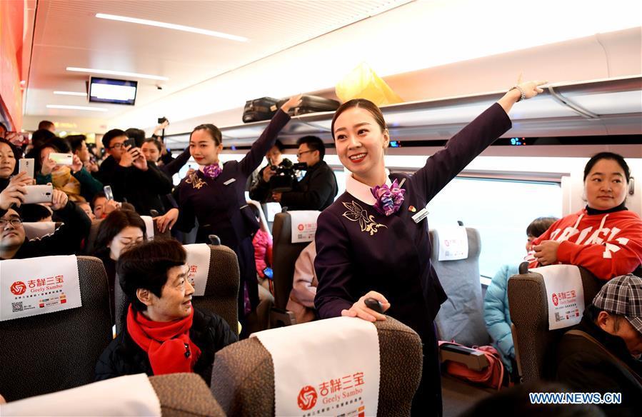 Rrail linking Shangqiu and Hefei, Zhengzhou and Fuyang put into operatioin