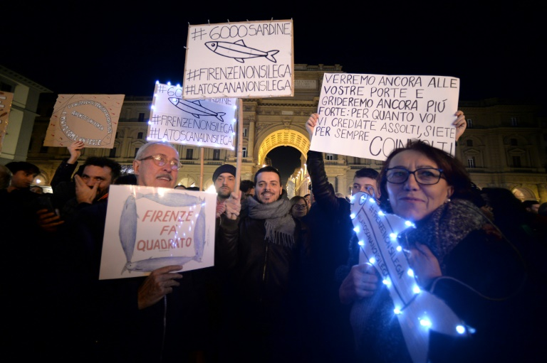Tens of thousands march against far-right in Italy