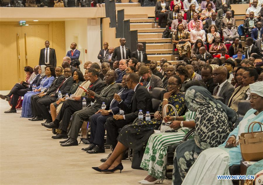 People attend opening ceremony of Int'l Conference on AIDS and Sexually Transmitted Infections in Africa in Rwanda