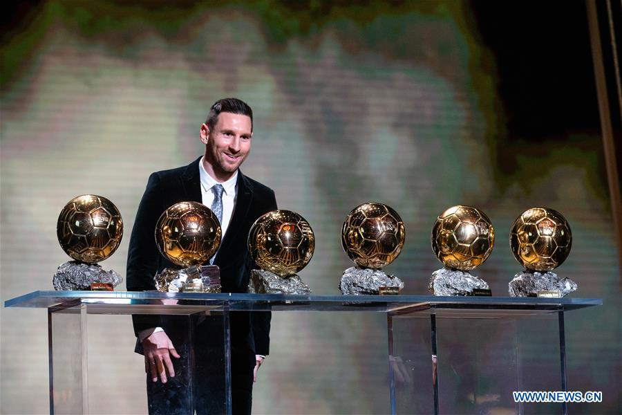 Messi makes record of winning sixth Ballon d'Or